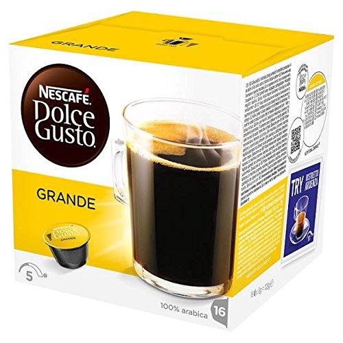 NESCAFE Dolce Gusto Grande bolsitas de café 16 cápsulas (Pack de 3 x 128 g