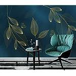 LIWALLPAPER-Carta-Da-Parati-3D-Fotomurali-Foglia-Di-Farfalla-Dorata-Camera-da-Letto-Decorazione-da-Muro-XXL-Poster-Design-Carta-per-pareti-200cmx140cm