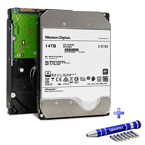 Western Digital Ultrastar DC HC530 HDD 14TB 7.2k RPM SATA 6Gb/s 512MB Cache 3.5-Inch Enterprise Data Center Hard Drive | WUH721414ALE6L4 | Bundle with COMPATILY Aluminum Screw Driver Kit by Western Digital (Image #7)
