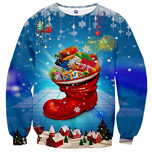 Hgvoetty Unisex Merry Christmas Shirts Crewneck Ugly Xmas Sweater for Men Women L]()