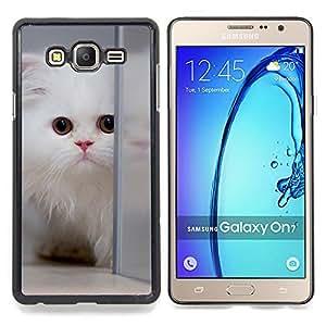 Stuss Case / Funda Carcasa protectora - Persa blanco Gato de pelo largo gatito mullido - Samsung Galaxy On7 O7
