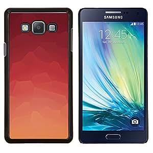 Modelo rosado abstracto- Metal de aluminio y de plástico duro Caja del teléfono - Negro - Samsung Galaxy A7 / SM-A700