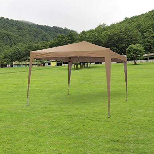 shougui trade Carpa para Fiestas Gazebo de 2.5 x 2.5 m Carpa para jardín con Paneles Laterales, Totalmente Impermeable, Marco de Acero con Recubrimiento en Polvo para Bodas al Aire Libre (Beige):