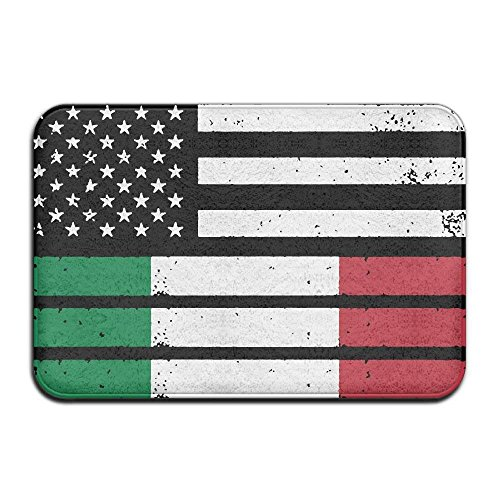 Cheap  hongwenjy Inside & Outside Floor Mat Italian American Flag Design Pattern Patio..
