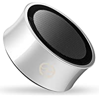 Wireless Bluetooth Speakers, CLOUDZONE Portable Mini Bluetooth Speaker with Microphone, Heavy Bass,Micro SD Card Support,3.5mm Aux for iPhone iPad Samsung and More - Silver