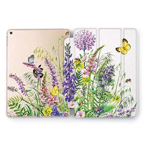 Wonder Wild Purple Flyers iPad Case Mini 1 2 3 4 Air Floral iPad Pro 10.5 12.9 Tab 2018 2017 9.7 inch Apple 5th 6th Generation Girly Pretty Cute Floral Light Peony Bud Petal Stand Smart Cover New