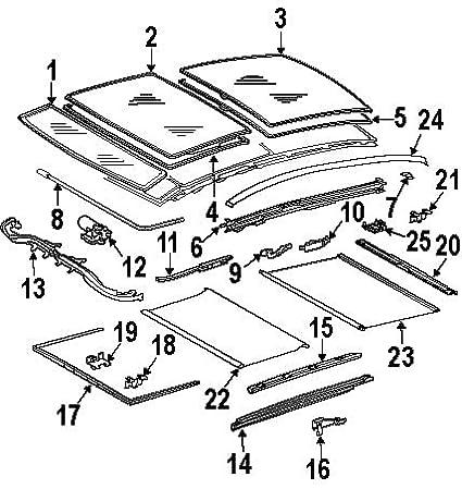 Mercedes Sunroof Parts Diagram