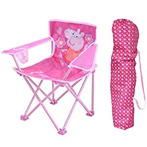 Amazon Com Peppa Pig Kids Camp Chair Toys Amp Games