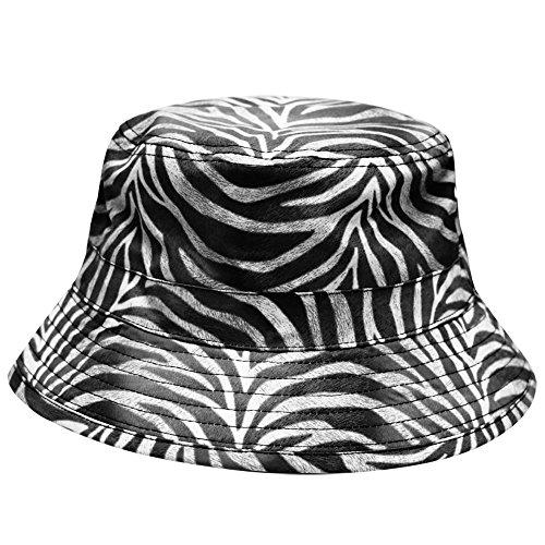City Hunter Bd1460 Reversible Map Bucket Hat - 4 Colors (1750 (Zebra Hats)