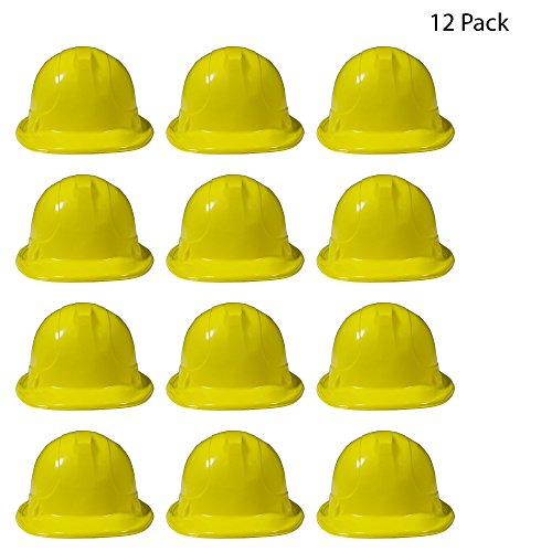 Yellow Construction Hats - 12 Pack