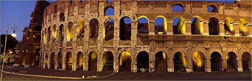 ater, Coliseum, Rome, Italy by Panoramic Images Laminated Art Print, 43 x 14 inches ()