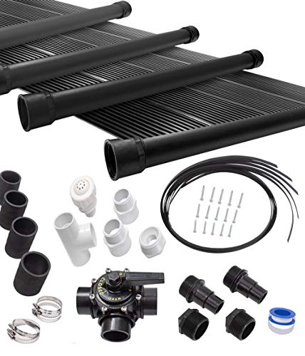 SunQuest 10-2X12 Solar Swimming Pool Heater Complete System with Roof Kits