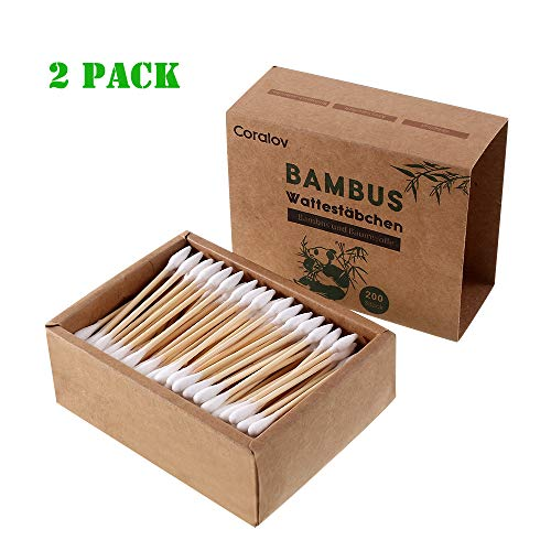 Cotton Swabs I Organic 400 ct Baby Cotton Buds I Biodegradable Natural Cotton Swabs I Eco Friendly Cotton Sticks | Hygienic Cleaning Sterile Sticks for Makeup Jewelry Ceramics Electronics