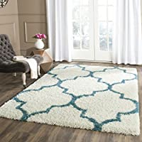 Safavieh Kids Shag Collection SGK566C Ivory and Blue Area Rug (4 x 6)