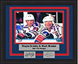 """New York Mark Messier/Wayne Gretzky 8"""" x 10"""" Hockey Framed and Matted Photo with Engraved Autographs"""