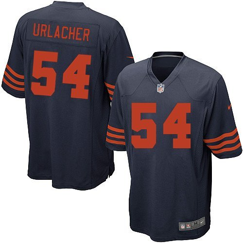 Nike Brian Urlacher Jersey Navy Blue 54 Youth Alternate Chicago Bears NFL 1940s Throwback