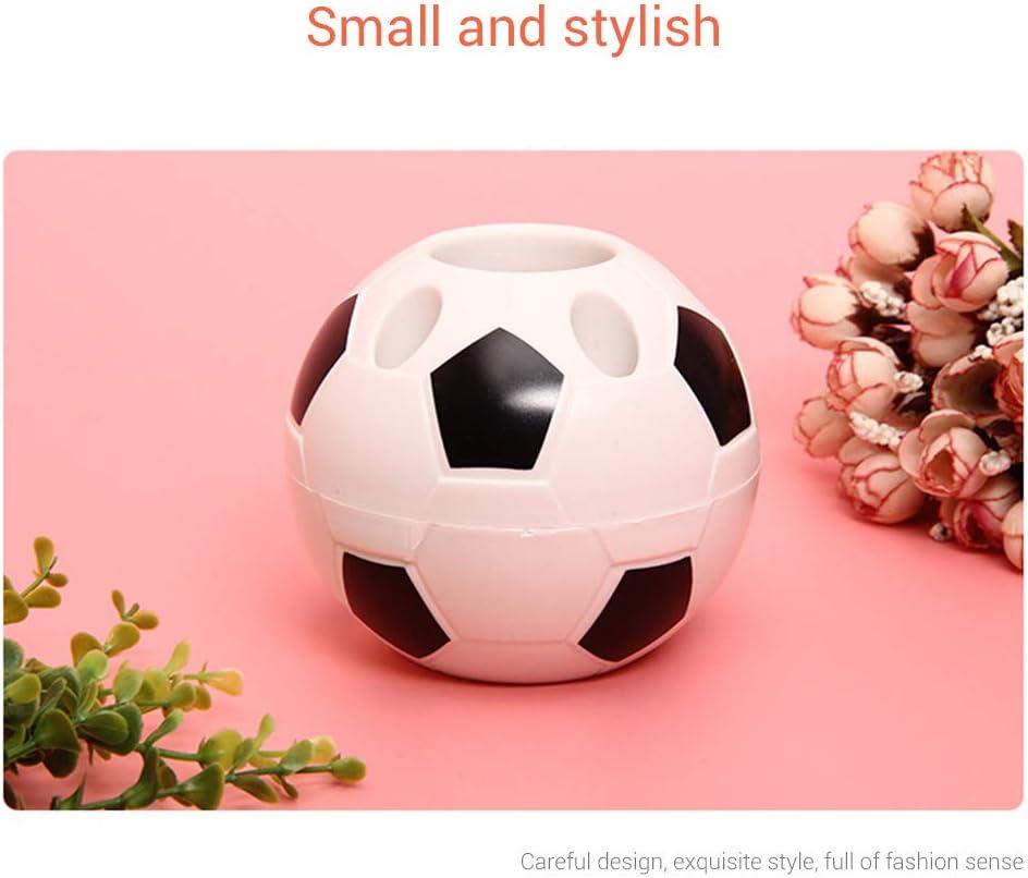 organizer da scrivania e ufficio 10.5 * 10.5 * 10.5cm Nero portapenne per bambini Portapenne creativo da calcio scrivania