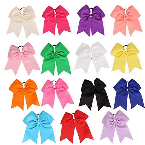 Queentools Hair Bows Ponytail Holder 7.5