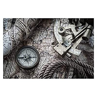 Vintage Marine Still Life Retro World maps and Pictures 1000 Piece Wooden Jigsaw Puzzle DIY Children Educational Puzzles Adult Decompression Gift Creative Games Toys Puzzles Home Decor: Toys & Games