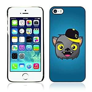 Colorful Printed Hard Protective Back Case Cover Shell Skin for Apple iPhone 5 / 5S ( Cute Werewolf Illustration )