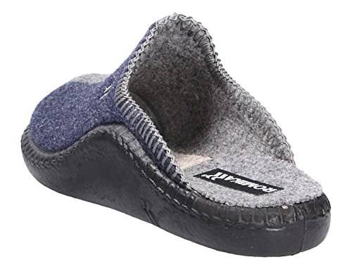 Romika Damen Mokasso 62 Pantoffeln Blau (Jeans-Kombi 541 541)