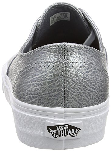 Basses Vans Authentic Leather gray Mixte metallic Decon Baskets Adulte Gris T1A1qPwx