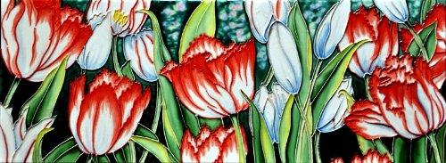 - White Tulips - Decorative Ceramic Art Tile - 6