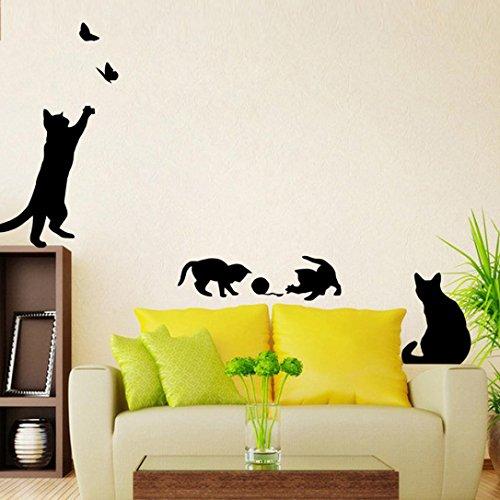 Amazoncom Susenstone CatWall Stickers Light Switch Decor - Wall stickers art