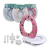 cushion toilet seat elongated 2 in 1 Toilet Seat with Soft Cushion Adults Children Elongated Shape Universal