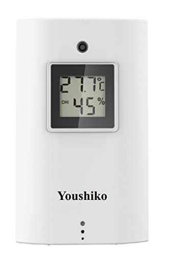 Youshiko YC9315 Wireless Temperature & Humidity 3 - Channel Sensor for Weather Station