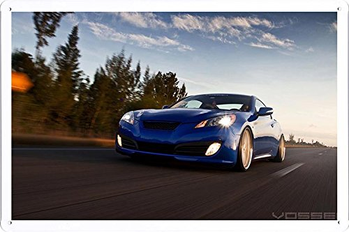 Vehicle Automobile Motor Car Vossen Wheels Genesis Roller Tin Sign Metal Poster Plate (20x30cm) By Auto TinSign