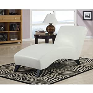 Global Furniture USA Polyurethane/Wood Chaise Lounge with White Legs