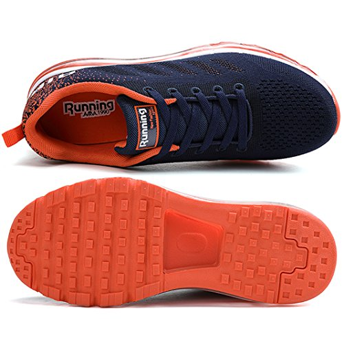 SUADEEX Homme Femme Baskets Chaussures de Course Sneakers Running Sports Fitness Gym Outdoor Mode Casual Shoes Orange wiWDi7FPp