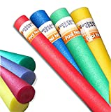 Sunbeach Spas NEW Special 4 Pack Noodle Deal Woggle Logs Swimming Pool Water Sport Lessons Aid Foam Family Holiday Kids Floats Aerobic Therapy Exercise 1.5m / 150cm - Red, Green, Blue, Yellow