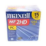 Maxwell MF 2HD 1.44MB high density 3.5 floppy disks 15pcs