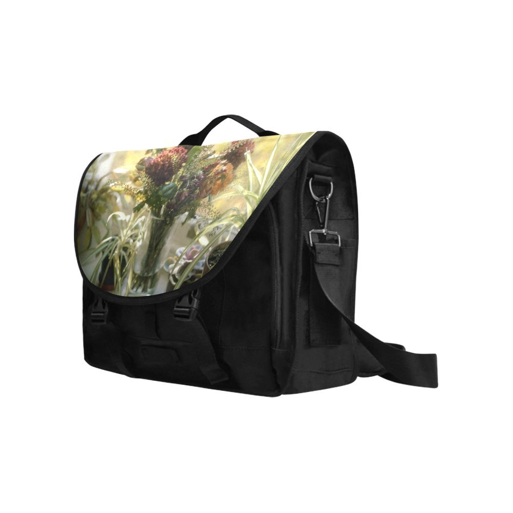 Kitchor Custom Bouquet Several Days Later Oxford Fabric Laptop Messenger Shoulder bag
