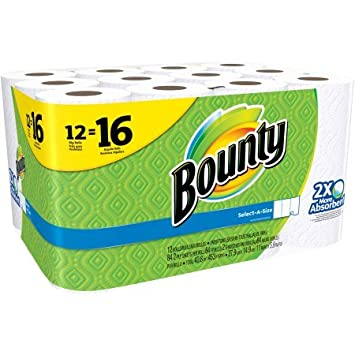 Bounty select-a-size grandes toallas de papel en rollo, 84 hojas, 12 rollos: Amazon.es: Hogar