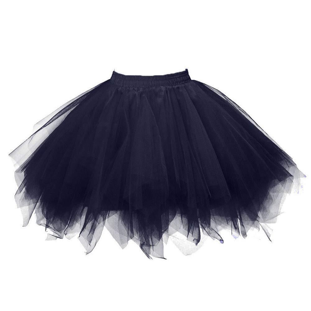Midi Jupe pour Femmes Manadlian Tutu Robe R/étro Style Ann/ée 50 Vintage en Tulle Elastique Audrey Hepburn Petticoat Tutu Danse Jupon Casual Slim Minijupe Midi Jupe