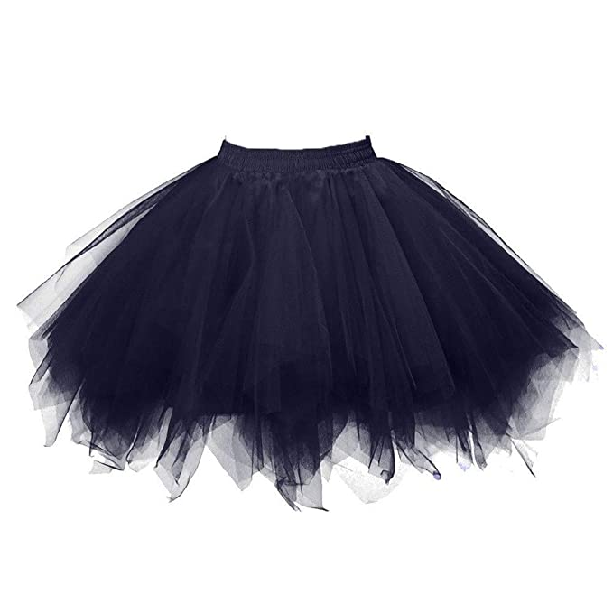 f688fcf9eb25 Qmber Tüllrock Damen 50er Rockabilly Kurz Petticoat Spitze Organza Unterrock  Blase Ballett Tütü Mini Rock Reifrock
