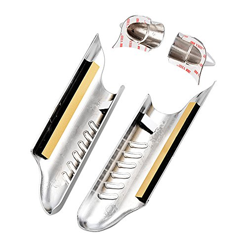 Chrome Lower Fork Leg Deflector Shields Fender Covers For 2000-2013 Harley Touring Dual Disc by Astra Depot (Image #4)