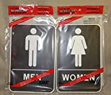 Bathroom Signs - ADA Braille (2-Pack - 1 Women's and 1 Men's)