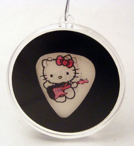 Hello Kitty Fender - Fender Hello Kitty Guitar Pick Christmas Ornament White