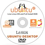 Ubuntu 16.04 Linux Desktop - 32-Bit 64-Bit Support - 2 Disc DVD Set - New Release