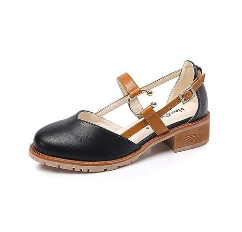 Mocasines para Mujer Estilo Universitario Vintage Otoño Estudiante Mary Jane Zapatos: Amazon.es: Zapatos y complementos