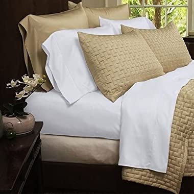 Bamboo Extra Soft Queen Bed Sheet Set - 4pc Set - Deep Pockets - Wrinkle Free (Queen, White)