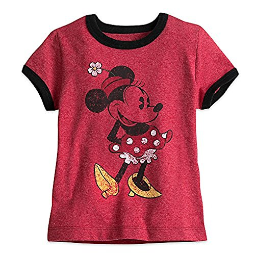 Disney Minnie Mouse Classic Ringer Tee for Girls, Red, X-Large / 14