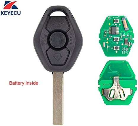 New Replacement Uncut Key Blades Emergency Key Inserts For BMW KR55WK49127