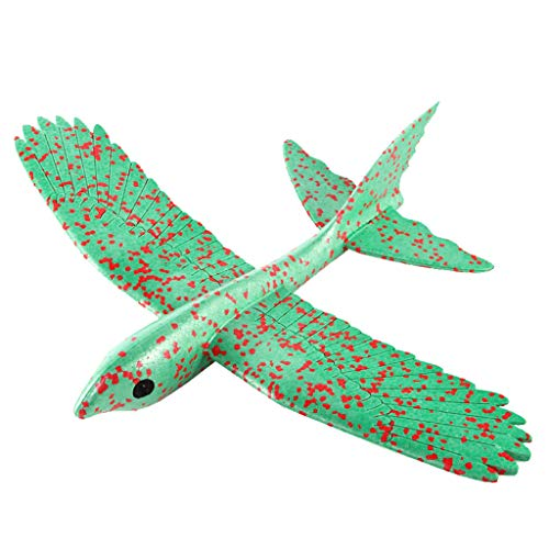 KINGOLDON Foam Throwing Glider Airplane Inertia Aircraft Toy Hand Launch Bird Model ()