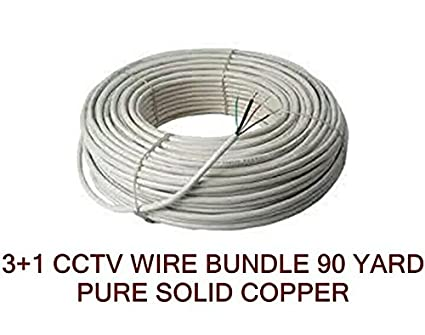 CCTV WIRE CABLE 3+1 Copper+Breding Alloy+mic wire alloy- 90 METER at amazon