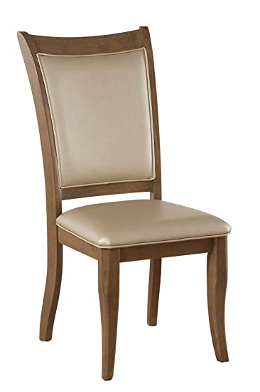 Amazon.com - Acme Furniture Side Chair in Beige and Gray Oak ...